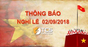 TGS Law thông báo: Lịch nghỉ Lễ Quốc Khánh 02/09/2018
