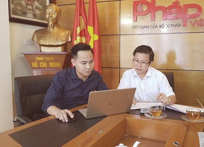 Luật sư Nguyễn Văn Tuấn- Giám đốc Công ty TNHH TGS đang trả lời câu hỏi của độc giả gửi đên