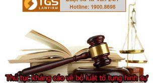 Thủ tục kháng cáo về bộ luật tố tụng hình sự