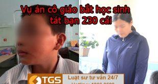 Vụ án cô giáo bắt học sinh tát bạn 230 cái tại Quảng Bình
