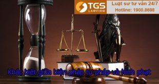 khác biệt giữa biện pháp tư pháp và hình phạt