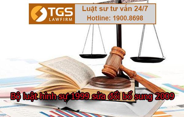 bộ luật hình sự 1999 sửa đổi bổ sung 2009
