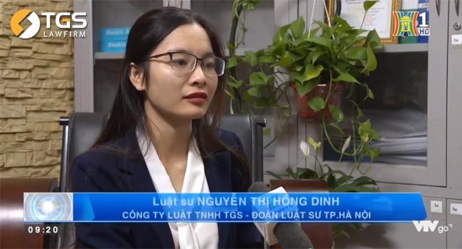 Luật sư Nguyễn Thị Hồng Dinh - Đại diện Công ty Luật TNHH TGS