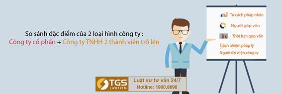 So sánh công ty TNHH 2 thành viên và Công ty cổ phần