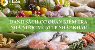 kiểm tra nhà nước về an toàn vệ sinh thực phẩm xuất, nhập khẩu
