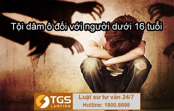 Điều 146 Bộ luật Hình sự 2015 về tội dâm ô đối với người dưới 16 tuổi