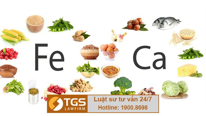thực phẩm vi chất dinh dưỡng
