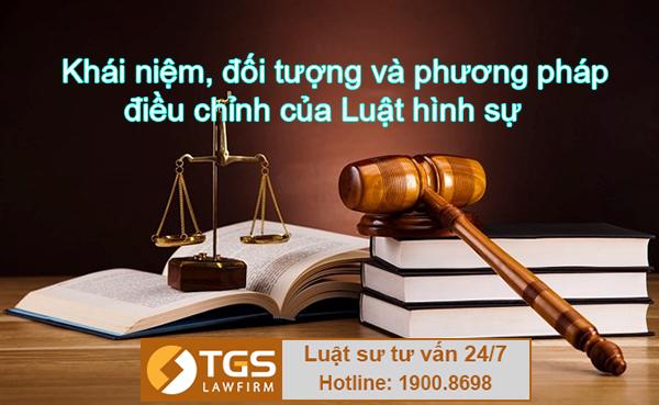 Khái niệm, đối tượng và phương pháp điều chỉnh của Luật hình sự