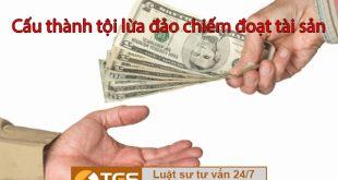cấu thành tội lừa đảo chiếm đoạt tài sản