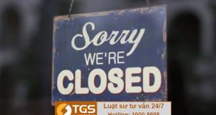 đóng cửa chi nhánh công ty