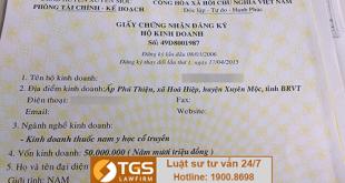 giấy chứng nhận hộ kinh doanh cá thể
