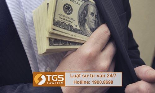 Mức xử phạt dành cho tội nhận hối lộ theo quy định Bộ luật hình sự