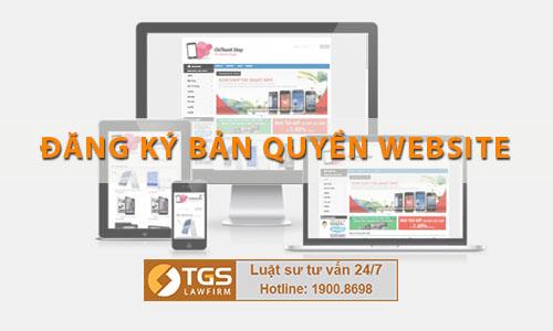 đăng ký bản quyền website