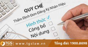 quy chế thẩm định đơn đăng ký nhãn hiệu