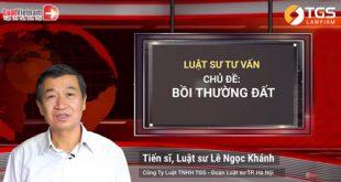 Trả lời Luật Việt Nam về các vấn đề xoanh quanh đến Bồi thường đất