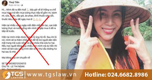 Kẻ mạo danh nữ ca sĩ Thủy Tiên lừa tiền từ thiện có thể bị phạt tù Chung Thân