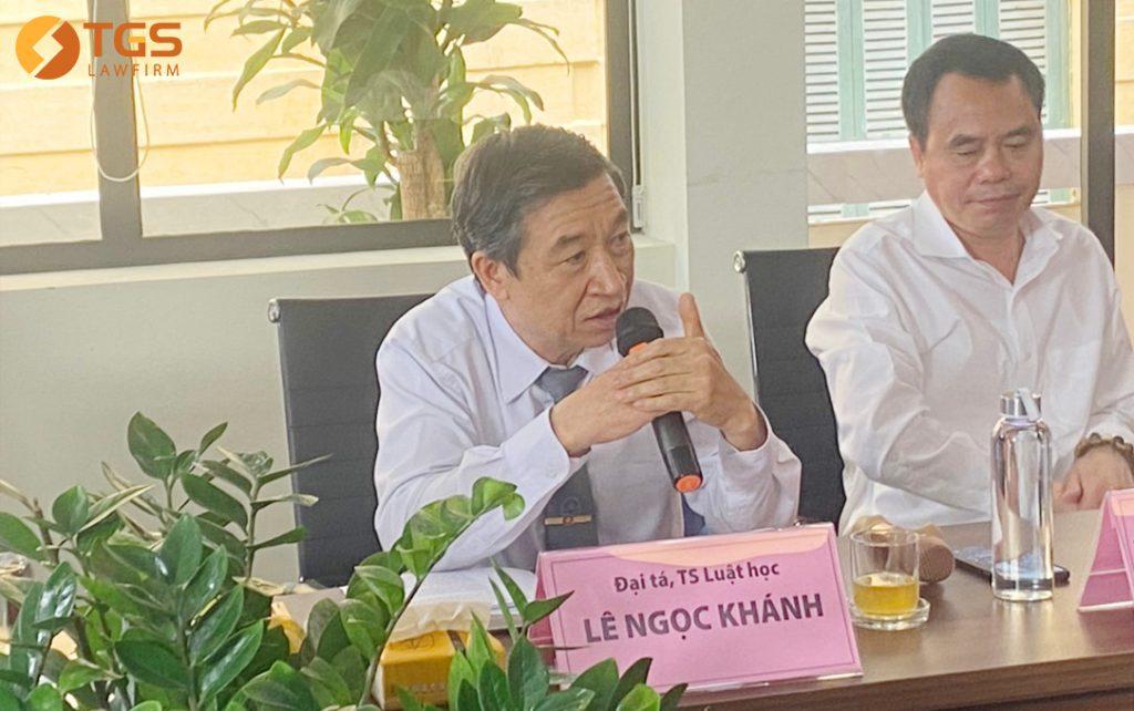 """Luật sư Lê Ngọc Khánh phát biểu tại Tọa đàm trực tuyến """"Thực hành tâm linh: Cách nào để tránh u mê?"""""""